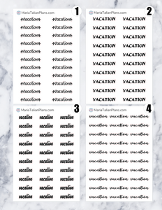 Vacation | Script Stickers