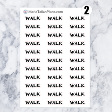Load image into Gallery viewer, Walk | Script Stickers