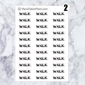 Walk | Script Stickers