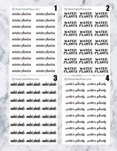 Water Plants | Script Stickers
