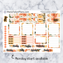 Load image into Gallery viewer, Amplify Planner Monthly kit - Warm Elegant Florals