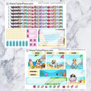 Amplify Planner Weekly kit - Chloe's Summer Kit