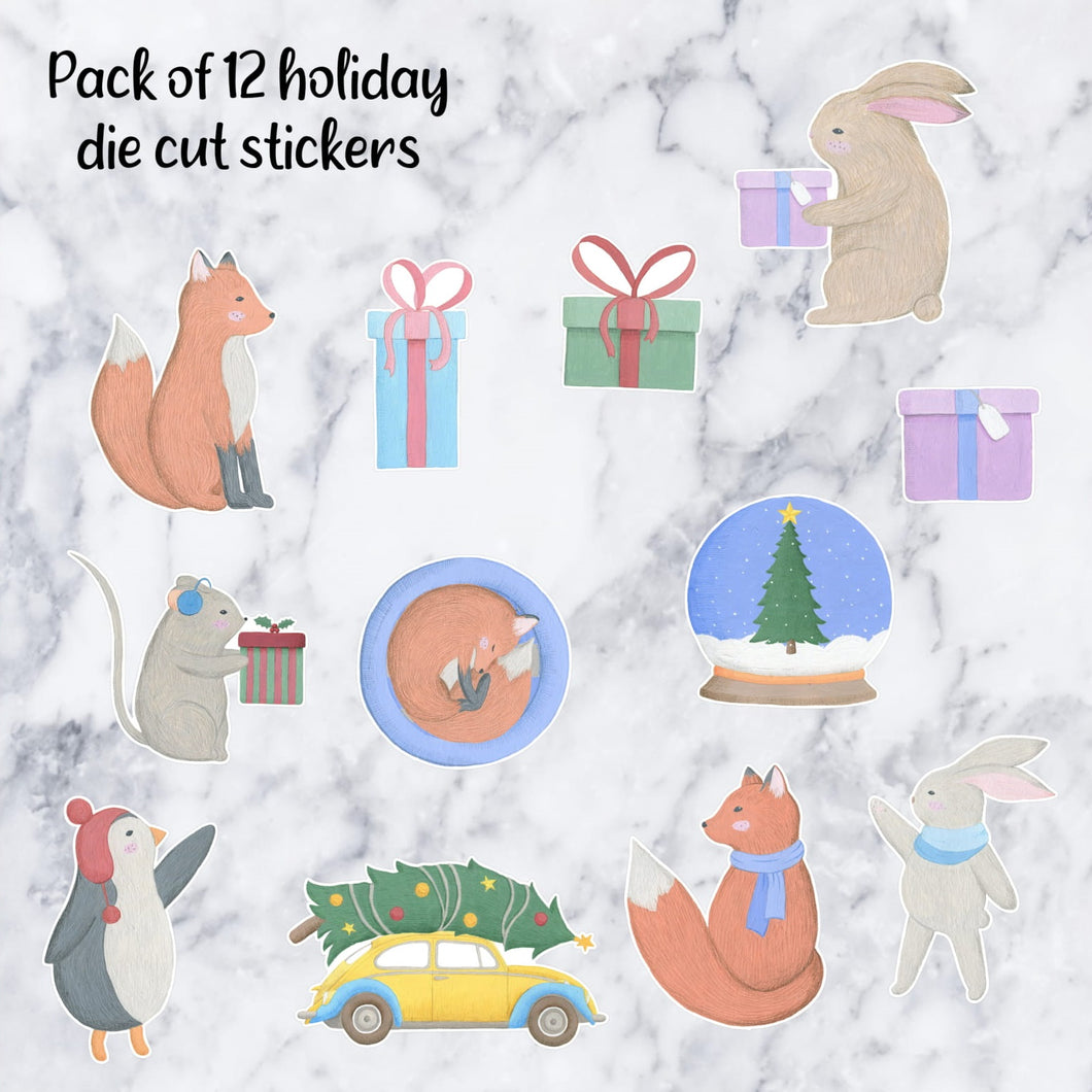 Winter Holiday Die Cuts | Pack of 12
