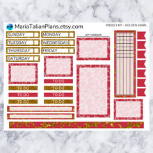 Load image into Gallery viewer, Passion Planner Weekly Sticker Kit - Golden Swirl