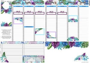 Passion Planner Weekly Sticker Kit - Tropical Paradise