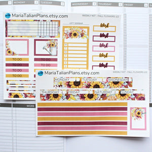 Passion Planner Weekly Sticker Kit - Fall Flowers