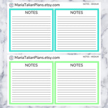 Load image into Gallery viewer, Notes Box Stickers for Passion Planner | Solid Color