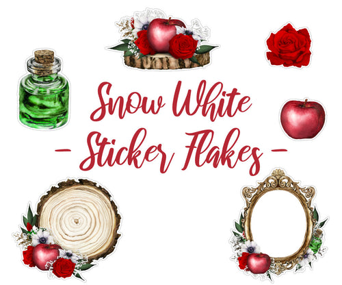 Snow White - Sticker Flakes | Die Cut | Deco Stickers