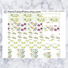 Load image into Gallery viewer, Passion Planner Daily Stickers - Pastel Floral Headers