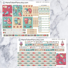 Load image into Gallery viewer, Passion Planner Weekly Sticker Kit - Cat Lover