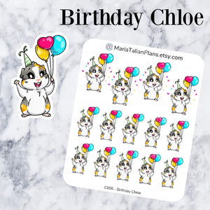 Birthday Chloe | Guinea Pig Stickers