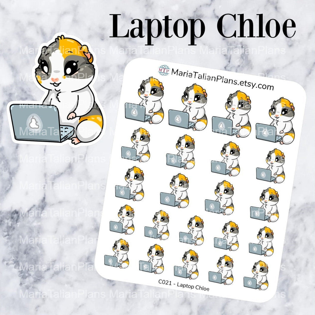 Laptop Chloe | Guinea Pig Stickers