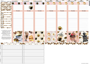 Passion Planner Weekly Sticker Kit - Coffee First