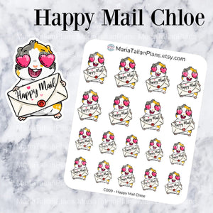 Happy Mail Chloe | Guinea Pig Stickers