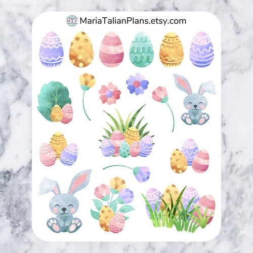 Easter Deco Stickers | Passion Planner | Decorative Stickers