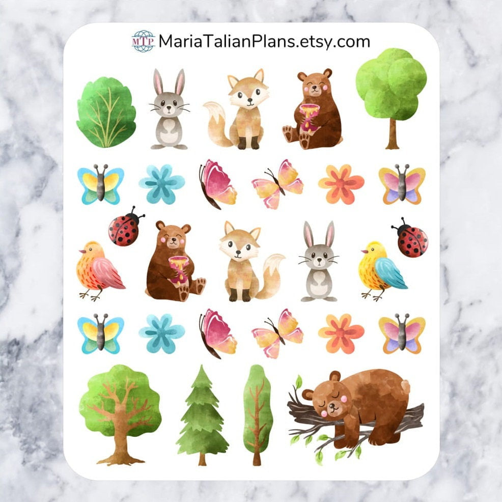Forest Animals Deco Stickers