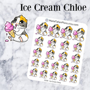 Ice Cream Chloe | Guinea Pig Stickers