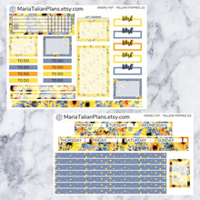 Load image into Gallery viewer, Passion Planner Weekly Sticker Kit - Yellow Poppies