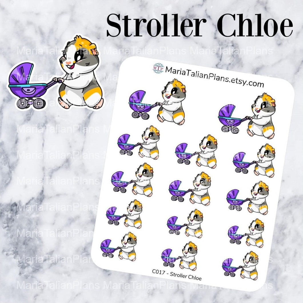 Stroller Chloe | Guinea Pig Stickers