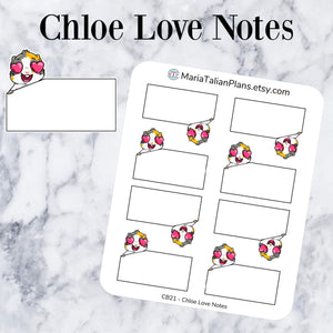 Chloe Love Notes | Guinea Pig Stickers