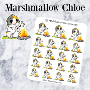 Marshmallow Chloe | Guinea Pig Stickers