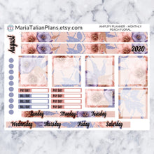 Load image into Gallery viewer, Amplify Planner Monthly kit - Peach Floral