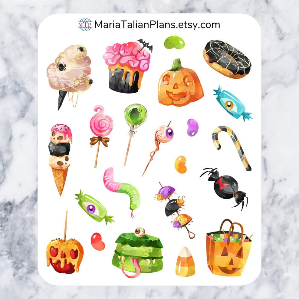 Halloween Candy Deco Stickers