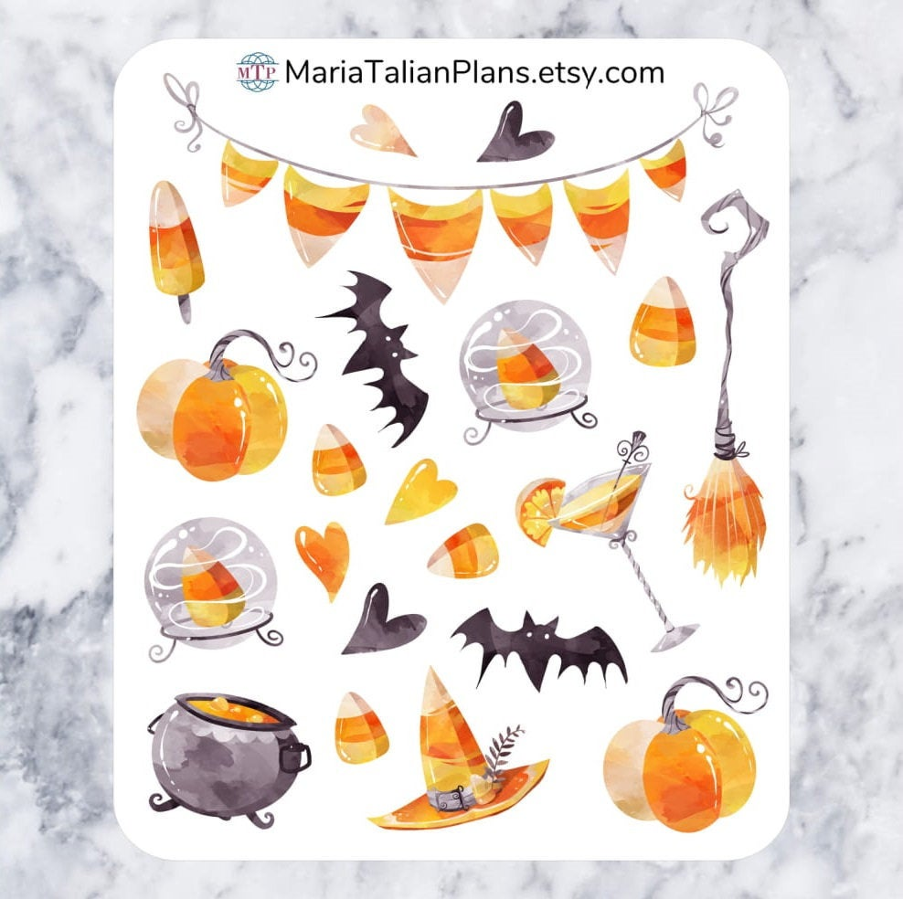 Candy Corn Deco Stickers