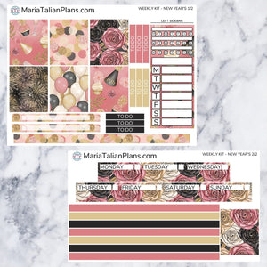 Passion Planner Weekly Sticker Kit - New Year's