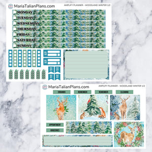 Amplify Planner Weekly kit - Woodland Winter