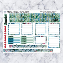 Load image into Gallery viewer, Amplify Planner Monthly kit - Woodland Winter