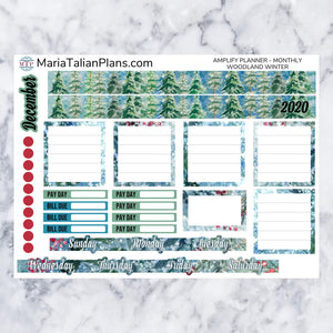 Amplify Planner Monthly kit - Woodland Winter