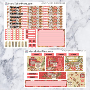 Amplify Planner Weekly kit - Gingerbread