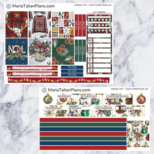 Passion Planner Weekly Sticker Kit - Cozy Christmas