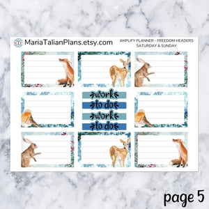 Amplify Planner Daily kit - Woodland Winter