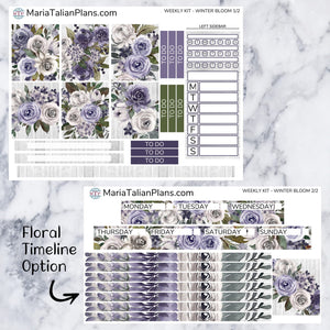 Passion Planner Weekly Sticker Kit - Winter Bloom