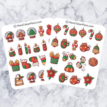 Load image into Gallery viewer, Holiday Deco Stickers | Decorative Christmas Planner Stickers