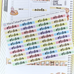 Daily To Do Labels | Amplify Planner | Planner Stickers