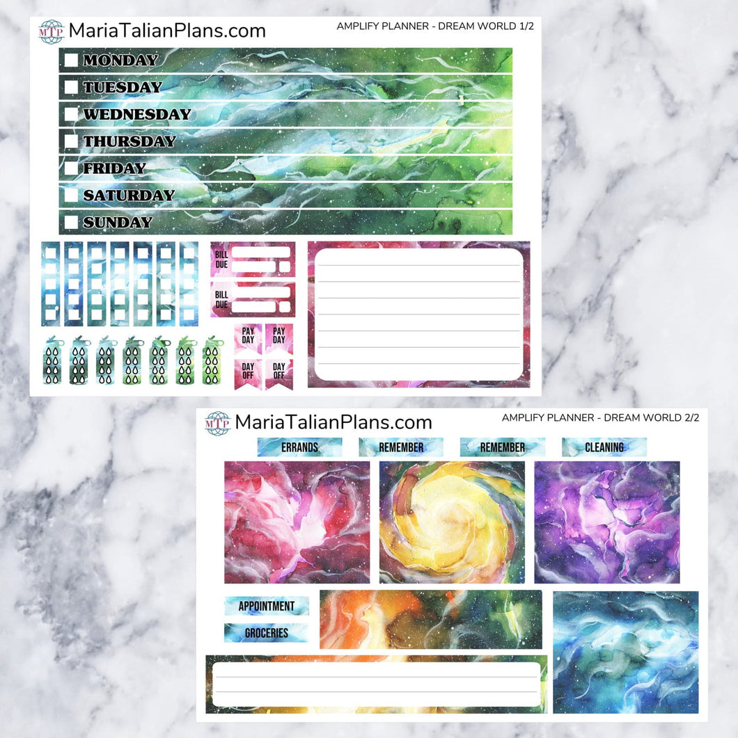 Amplify Planner Weekly kit - Dream World | Planner Stickers