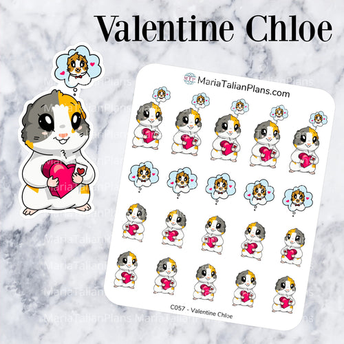 Valentine Chloe | Guinea Pig Stickers | Decorative Stickers
