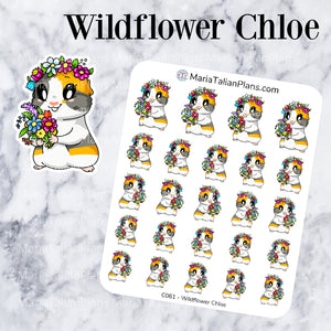 Wildflower Chloe | Guinea Pig Stickers | Decorative Stickers