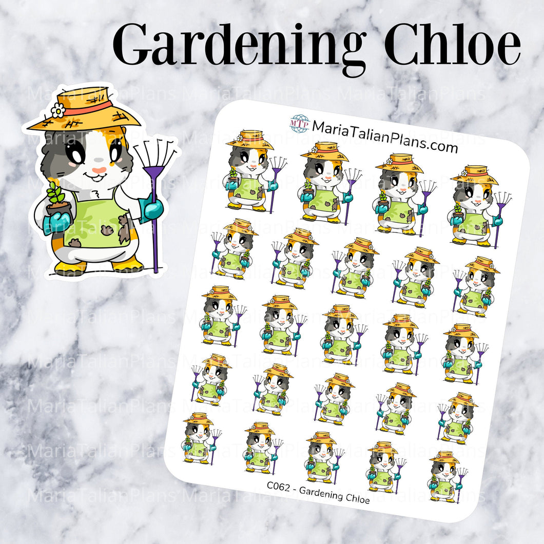 Gardening Chloe | Guinea Pig Stickers | Decorative Stickers