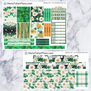 Passion Planner Weekly Sticker Kit - St. Patrick's Day | Small, Medium, and Large Size | Planner Stickers