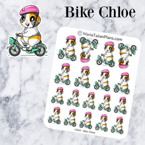 Bike Chloe | Guinea Pig Stickers | Decorative Stickers