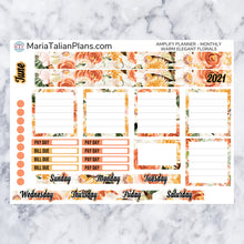 Load image into Gallery viewer, Amplify Planner Monthly kit - Warm Elegant Florals | Planner Stickers