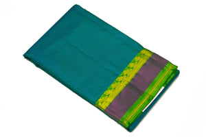 17017 Sapphire with Green Pallu
