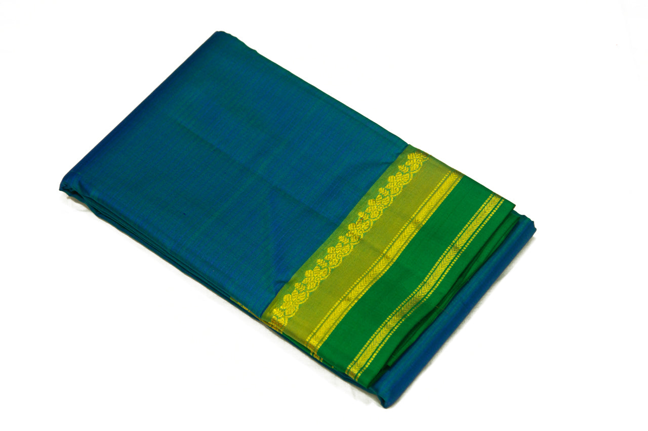 17040 Peacock Blue with Green Border