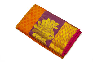36117 Orange with Purple Border