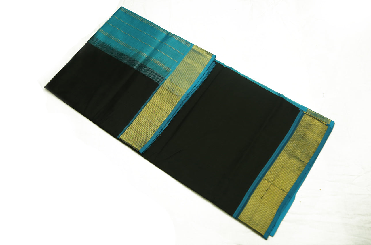 6036 Black with Copper Sulphate Blue Border