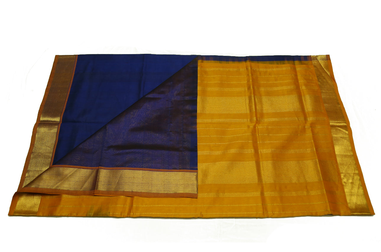 6037 Navy Blue with Mustard Border